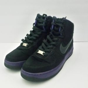 Nike Air Force 1 Black, Purple and Gray Size 8.5